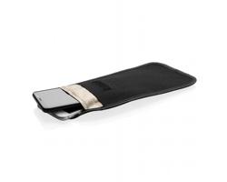 Polyesterové pouzdro na mobilní telefon DIAMOND s RFID ochranou - černá