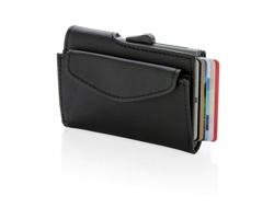 Hliníkové pouzdro na karty s peněženkou SPRIT s ochranou RFID - černá