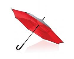 Bouřkový 23 deštník CZARS s obráceným manuálním otevíráním - červená