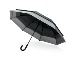 Značkový deštník Swiss Peak CIGGY pro 2 osoby - černá / šedá