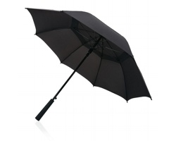 """Značkový polyesterový bouřkový 23"""" deštník MARSH s automatickým otevíráním - černá"""