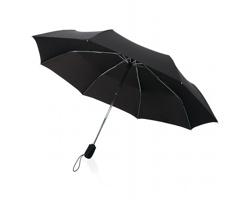 """Značkový 21"""" deštník Swiss Peak TRAVELLER s textilním pouzdrem - černá"""