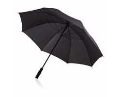 Odolný bouřkový deštník CLOTH s rovnou rukojetí - černá