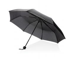 Manuální deštník JULIETA s pouzdrem s nákupní taškou - černá