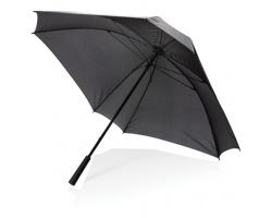 Velký manuální deštník DANELLE čtvercového tvaru - černá