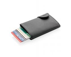 Hliníkový držák na karty SECURITO s peněženkou, kapacita až 7 karet - černá