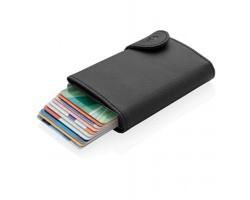 Hliníkové pouzdro na karty PALED s RFID ochranou - černá