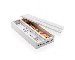Sada dvou her FORTE v dřevěné krabičce - bílá