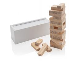 Skládací věž DOLOMITE z dřevěných kvádrů - bílá