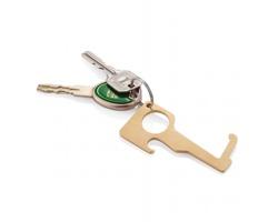 Mosazný hygienický klíč HAMMOND pro omezení kontaktu s povrchy - hnědá