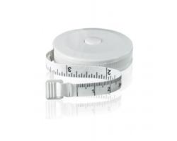 Plastový krejčovský metr DANIEL v kulatém pouzdře, 1,5m - bílá
