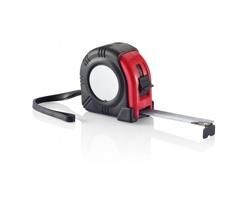 Svinovací metr THERON s klipem, 5m/19 mm - červená / černá