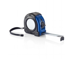 Svinovací metr THERON s klipem, 5m/19 mm - modrá