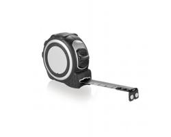Svinovací metr ARAM s klipem, 3m/16mm - stříbrná / černá