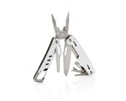 Nerezový multifunkční nástroj ALLISON s 11 funkcemi a karabinou - stříbrná