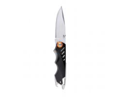 Pevný zavírací nůž LAIRY s otvírákem - černá / oranžová