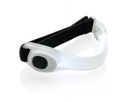 Bezpečnostní páska na ruku EFFLUX s LED světlem - bílá / černá