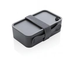 Plastová krabička na jídlo DOBBY s vidličkou - antracitová