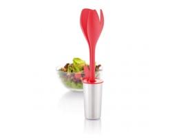 Souprava na salát MADIE ve tvaru tulipánu - červená