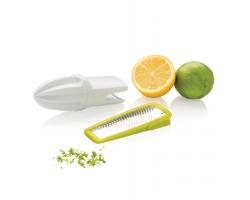 Ruční odšťavňovač a struhadlo citrusové kůry ACID, 2v1 - bílá