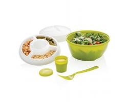 Plastová cestovní miska na jídlo s členitým prostorem CHIC, 4 misky - zelená