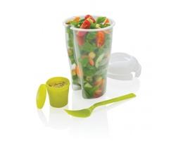Plastová nádoba na salát HOPKINS, 3v1 - zelená