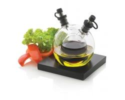Skleněná sada lahviček na olej a ocet WURST, 2v1 - černá