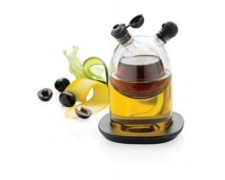 Skleněné nádoby na olej a ocet FLECKERS, 2v1 - černá