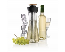 Karafa ABAXILE na bílé víno - černá