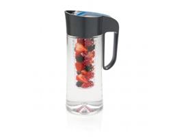 Tritanový džbán na vodu RULELESS s infuzérem na ovoce, 2 l - šedá