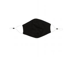 Bavlněná dvouvrstvá rouška RUBUS pro opakované použití - černá