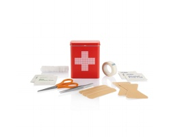 Sada první pomoci AMOS v plechové krabičce - červená