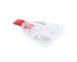 Přívěsek na klíče resuscitační maska TRISHA v pouzdře - červená