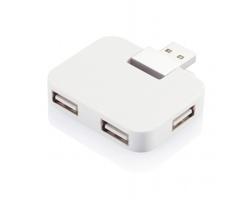 Cestovní USB hub TOUR - bílá
