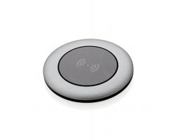 Hliníková bezdrátová nabíječka CLUELESS v kulatém provedení - šedá