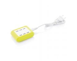 USB nabíječka MELBER se 6 USB porty - zelená / bílá