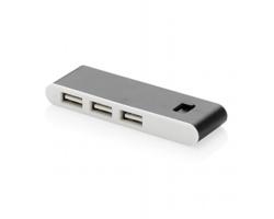 Plastový USB rozbočovač VICAR, 3 USB porty - černá