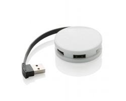Plastový USB hub HELVE se 4 USB porty - bílá