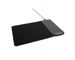 Podložka pod myš KAHN s bezdrátovým nabíjením a USB porty - černá