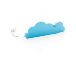 Plastový USB hub GOSSIPER tvaru mraků, 4USB - modrá / bílá