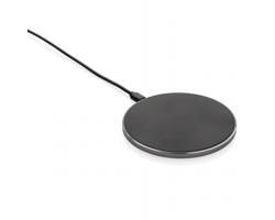 Rychlá bezdrátová nabíječka BULL, 15 W - černá / šedá