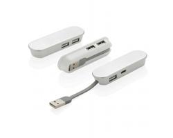 Hliníkový USB hub ANNAPOLIS s USB typu C - bílá