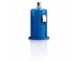 Plastová micro USB nabíječka do auta ALFRED - modrá
