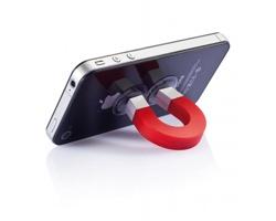Stojánek na telefon CLOPPED ve tvaru magnetu - červená