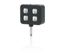 Plastové přídavné LED světlo EARLY pro kvalitnější osvětlení fotografií - černá