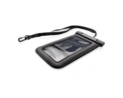 Vodotěsné pouzdro na mobil VESTS s textilním poutkem - černá