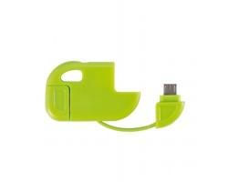 Plastový USB kabel BEACH ve skládacím provedení - zelená