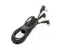 Značkový nabíjecí kabel Swiss Peak TEAL, 3v1 - černá