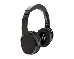 Značková bezdrátová bluetooth sluchátka Swiss Peak CLASS s pouzdrem - černá