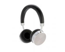 Značková bezdrátová sluchátka Swiss Peak PERKY - šedá / černá